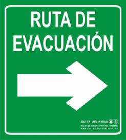 letrero señalamiento ruta de evacuacion